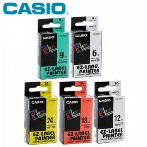 【芥菜籽文具】//CASIO 卡西歐// 標籤機專用色帶 12mm*8M (共6色)