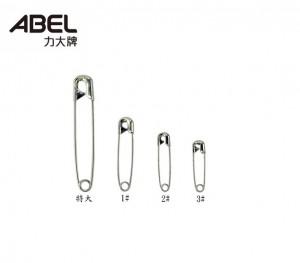 【芥菜籽文具】//ABEL力大牌//吊袋 1號別針 銀色別針(35mm)(約18支/包)