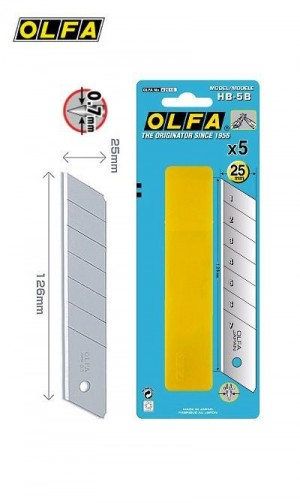 【芥菜籽文具】//OLFA//特大型美工刀片HB-5B型(5片/筒)(日本包裝型號HB5K型)