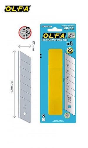 【芥菜籽文具】//OLFA//特大型美工刀片HB-5B型(6筒/盒)(日本包裝型號HB5K型)