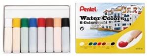 【芥菜籽文具】//Pentel // HTP-8 軟管水彩 8色裝 (不透明水彩)