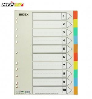 【芥菜籽文具】//HFP WP超聯捷// 11孔10段PP分段紙、隔頁紙 IX-902
