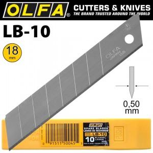 【芥菜籽文具】//OLFA//大型美工刀片LB-10型(10片裝)(日本包裝型號LB10K型)