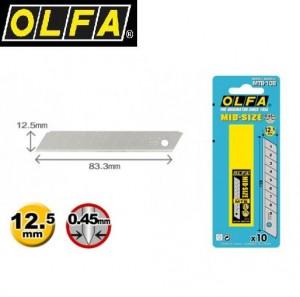 【芥菜籽文具】//OLFA// 新款中型美工刀片MTB-10B型(10片/盒)