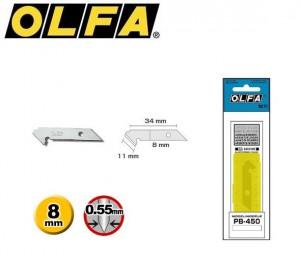 【芥菜籽文具】//OLFA// 壓克力切割刀刀片PB-450型(5片/盒)