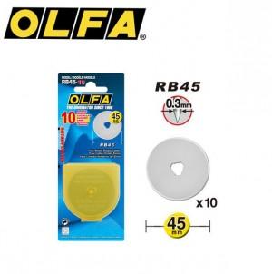 【芥菜籽文具】//OLFA// 裁布刀片、圓形刀片RB45-10(10片/盒)