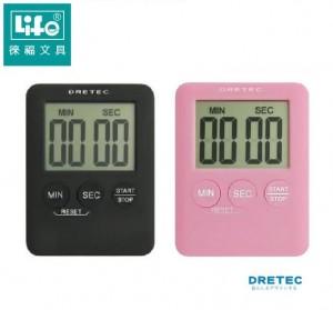 【芥菜籽文具】//LIFE徠福//日本DRETEC(多利可)正倒數計時器 T-307 (超大螢幕、超薄機身)