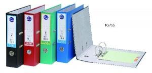 【芥菜籽文具】//同春牌//  環保PP合成紙二孔拱型夾  TG75S(12個/箱)