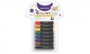 【芥菜籽文具】//雄獅// TM-8雄獅布的彩繪筆-8色(粗字)