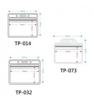 【芥菜籽文具】防水夾鍊名牌套 橫式 //  TP-014 / TP-073 //  TP-032 // 100個/盒
