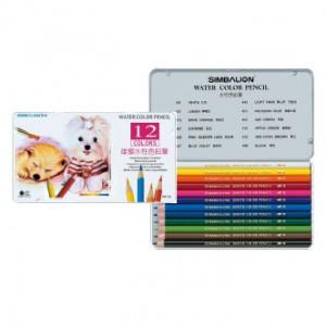 【芥菜籽文具】//雄獅文具// 12色水彩色鉛筆、鐵盒水性色鉛筆 WP-12