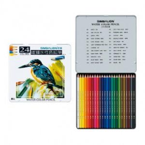 【芥菜籽文具】//雄獅文具// 24色水彩色鉛筆、鐵盒水性色鉛筆 WP-24