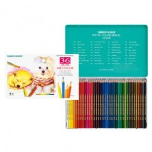 【芥菜籽文具】//雄獅文具// 36色水彩色鉛筆、鐵盒水性色鉛筆 WP-36