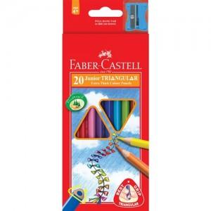 【芥菜籽文具】//FABER-CASTELL 輝柏//大三角彩色鉛筆16-116538-20 (3.3mm) 20色